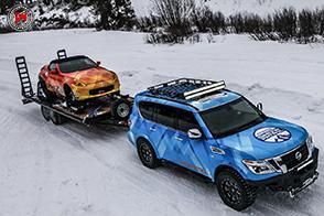 Un perfetto gatto delle nevi: è il Nissan Armada Snow Patrol