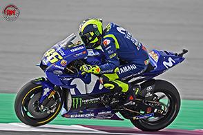 Sul circuito di Losail, in Qatar, terzo gradino del podio per Valentino Rossi