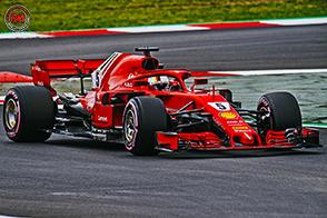 Un Vettel fiducioso nelle potenzialità della nuova Ferrari SF71H