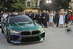 BMW presenta la bellissima M8 Concept Coupè a Villa d'Este