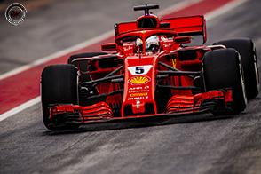 La Ferrari SF71H continua il suo sviluppo tecnico sulla pista di Barcellona