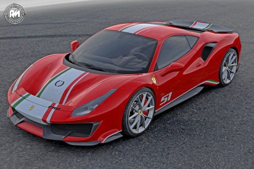 Ferrari 488 Pista allestimento