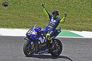 Terzo gradino del podio per Valentino Rossi al Mugello