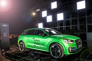 Audi illumina la Valle d'Itria con giochi di luci laser