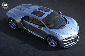 Bugatti Chiron con tetto trasparente  Sky View