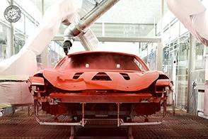Ferrari e l'innovativo sistema di verniciatura a bassa temperatura