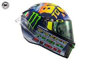 """""""Back to Misano"""": il nuovo casco di Valentino Rossi"""