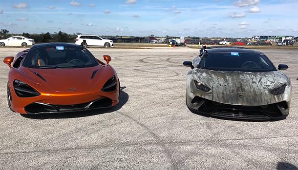 McLaren vs Lamborghini la sfida sul quarto di miglio!