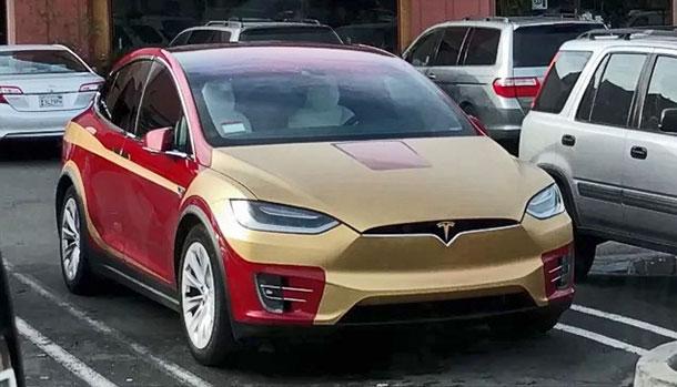 Tesla Model X Iron Man