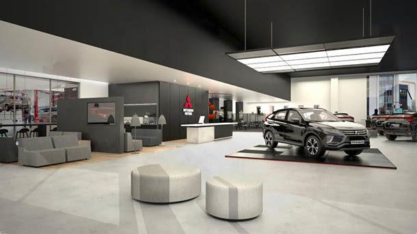 Mitsubishi _ nuova brand image concessionari _ interno