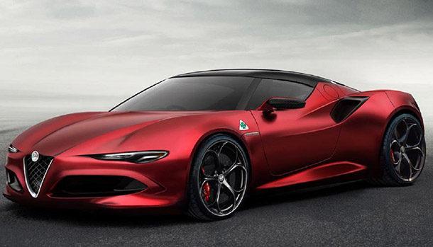 Alfa Romeo 8C rendering
