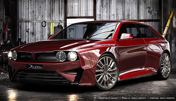 Lancia Delta Integrale Rendering
