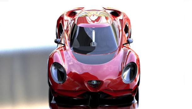 Alfa Romeo 4C Render
