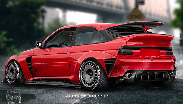 Ford Escort RS Cosworth by Matthew Parsons