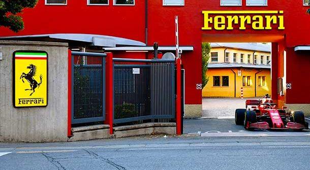 Charles Leclerc a Maranello con la Ferrari SF1000