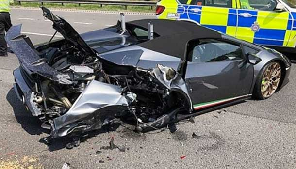 Lamborghini Huracan Performante Spyder incidente