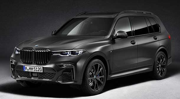 Nuova BMW X7 Dark Shadow Edition