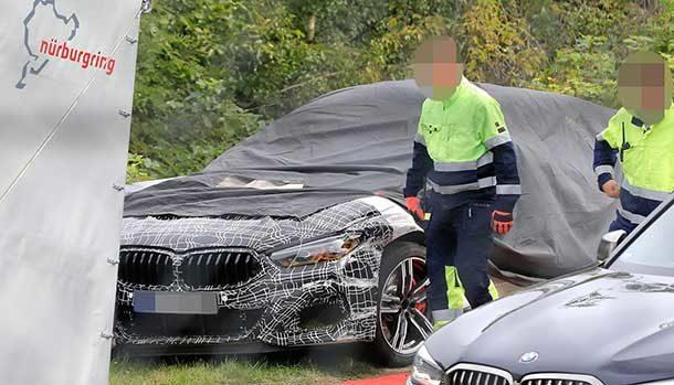 BMW M8 crash Nurburgring