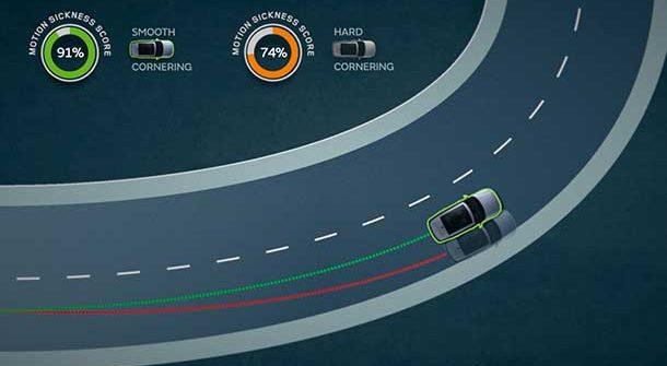 Jaguar Land Rover - Cinetosi - Mal d'auto