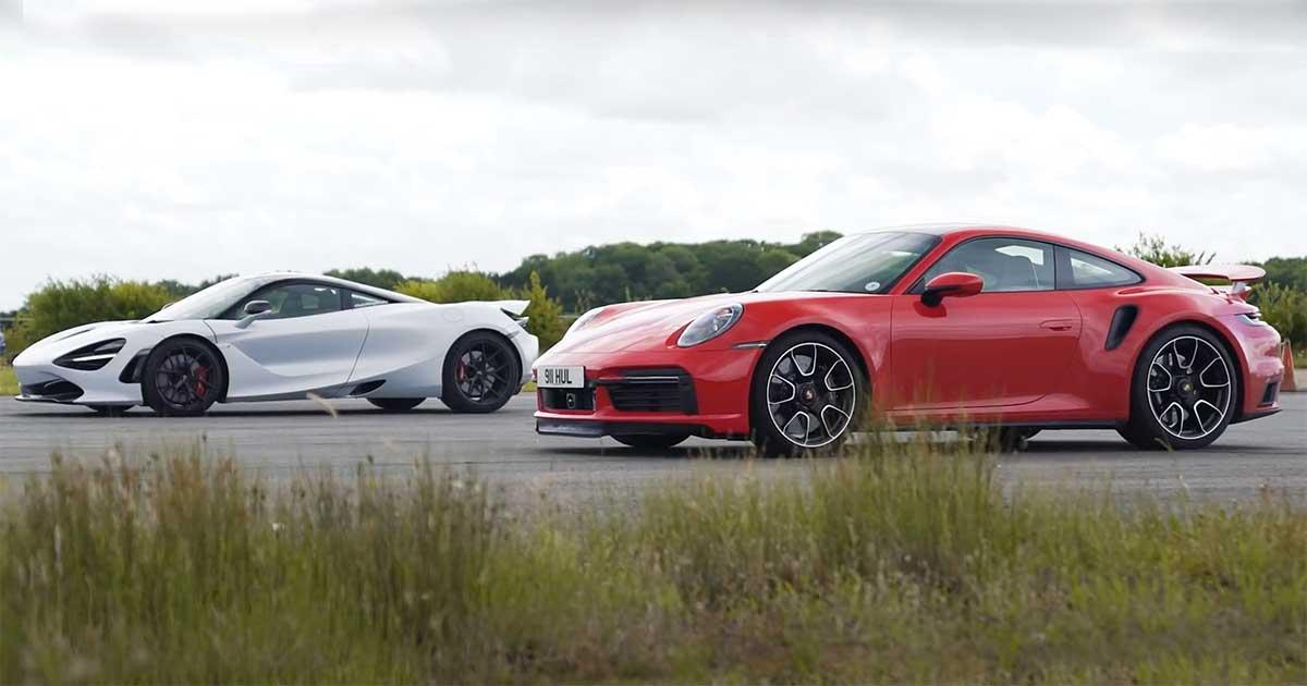 Porsche 911 Turbo S vs McLaren 720S