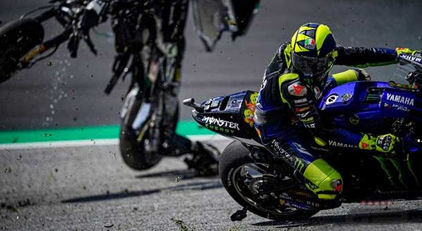 Valentino Rossi - Incidente Spielberg