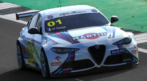 Alfa Romeo Giulia BTTC Martini Racing