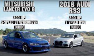 Lancer Evo VIII vs Audi RS3
