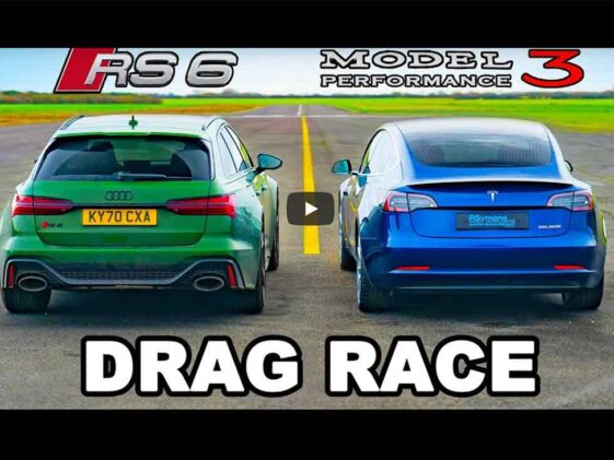 Audi RS6 Avant vs Tesla Model 3 Performance