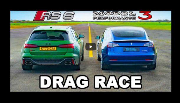 Audi RS6 Avant vs Tesla Model 3 Performance