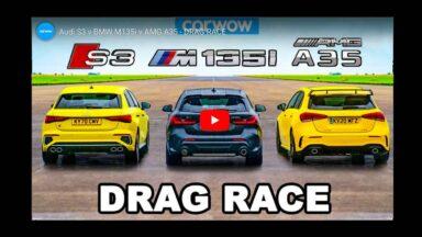 Audi S3 Sportback vs AMG A35 vs BMW M135i xDrive