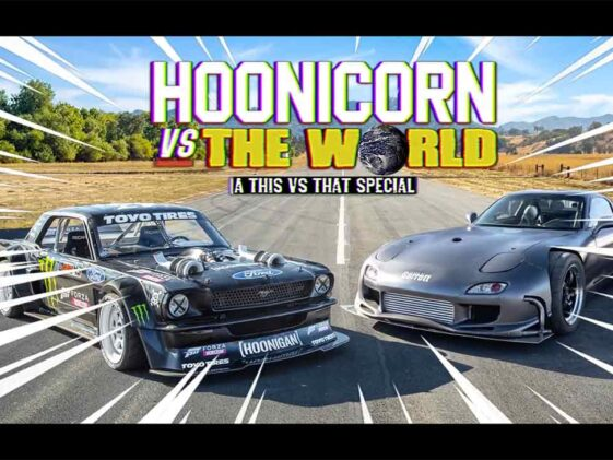 Mazda RX-7 vs Hoonicorn