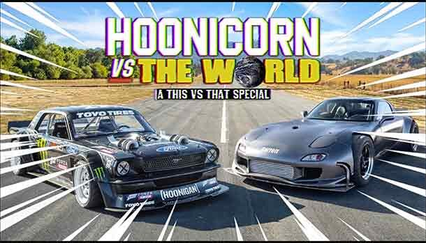 Mazda RX-7 vs Hoonicorn