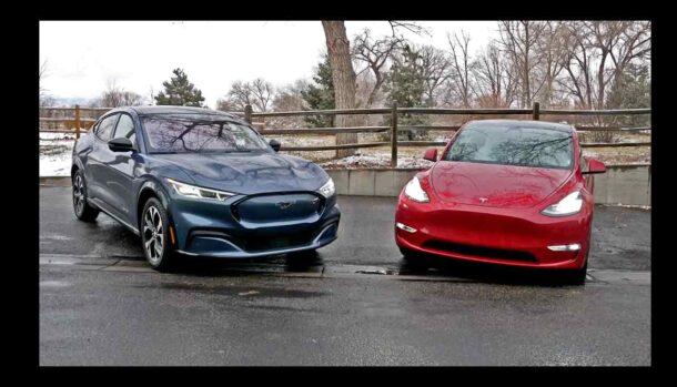 Mustang Mach-E - Tesla Model Y