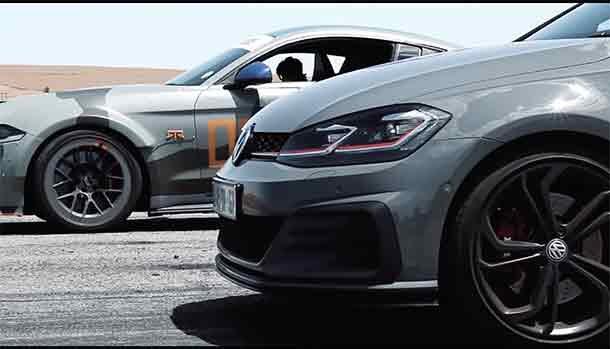 Volkswagen Golf GTI TCR vs Ford Mustang V8
