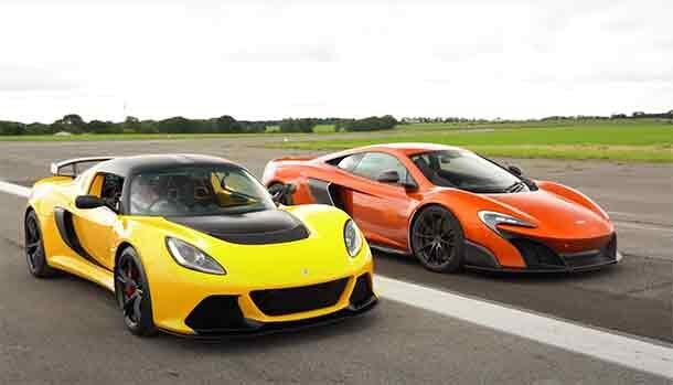 Lotus Exige V6 Club Racer vs McLaren 675 LT