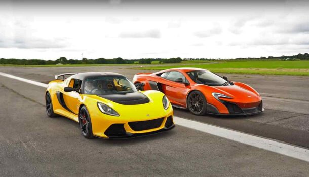 Lotus Exige V6 Club Racer vs McLaren 675 LT