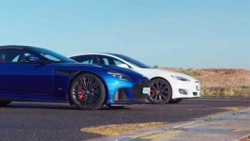 Tesla model S Performance vs Aston Martin DBS