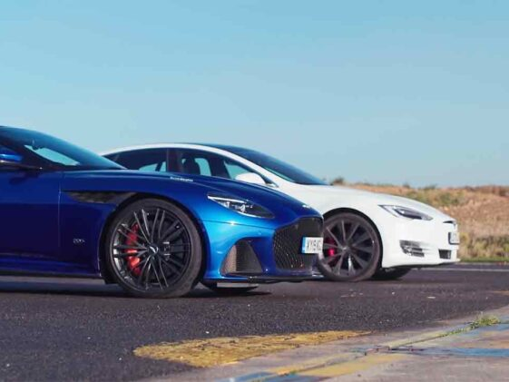 Tesla model S Performance vs Aston Martin DBS