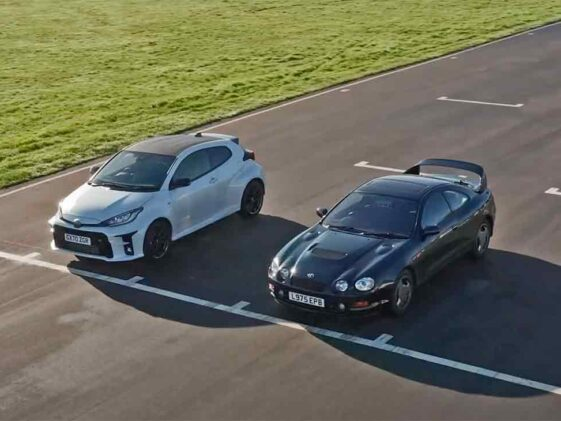 Toyota GR Yaris vs Celica GT4 ST205