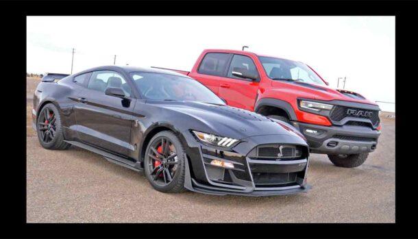 Mustang Shelby GT500 vs RAM TRX