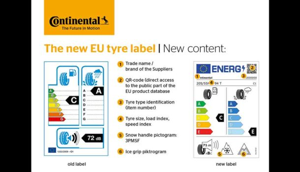 Nuova etichetta europea per pneumatici