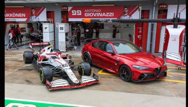 Gran Premio di Imola - Giovinazzi e Raikkonen con la Giulia GTAm