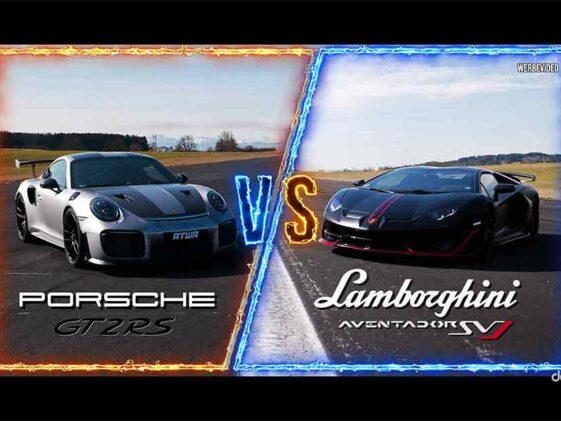 Lamborghini Aventador SVJ vs Porsche 911 GT2 RS