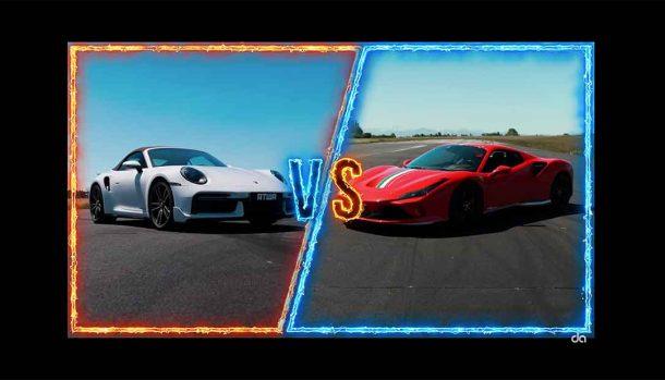 Porsche 911 Turbo S vs Ferrari F8 Spider